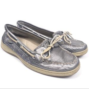 Sperry Top-Sider Angelfish Boat Shoes Silver 11
